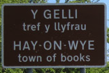 Hay-On-Wye town sign